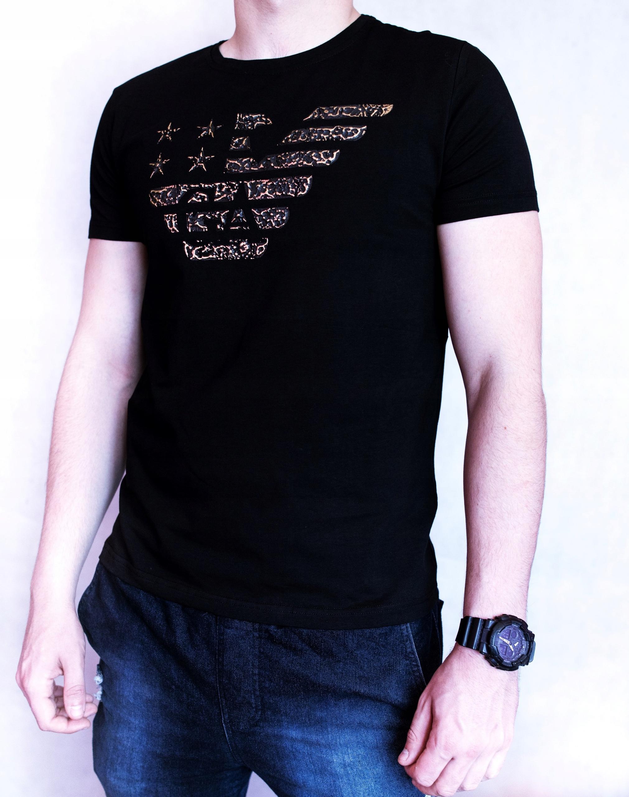 Giorgio Armani czarna koszulka rozm. XL
