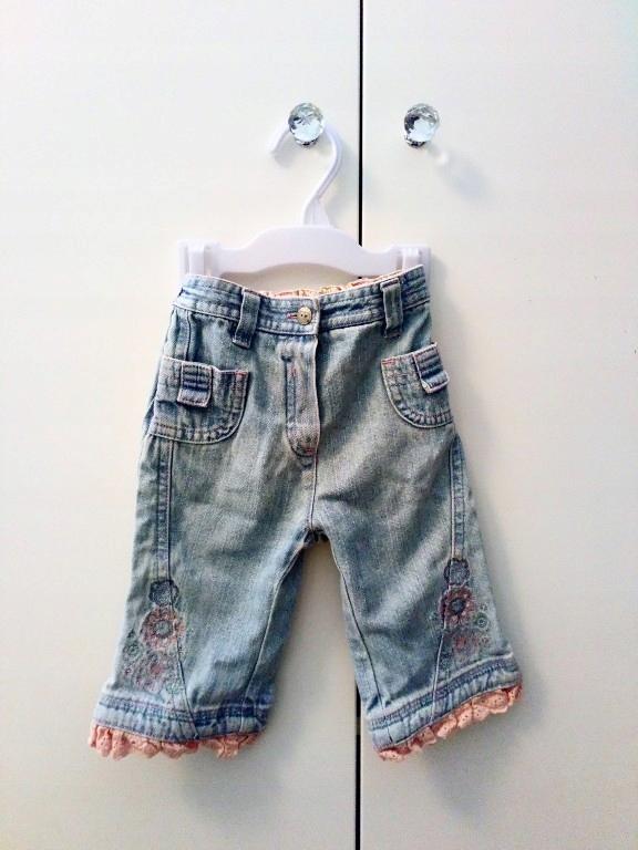 spodnie jeansy mothercare 68