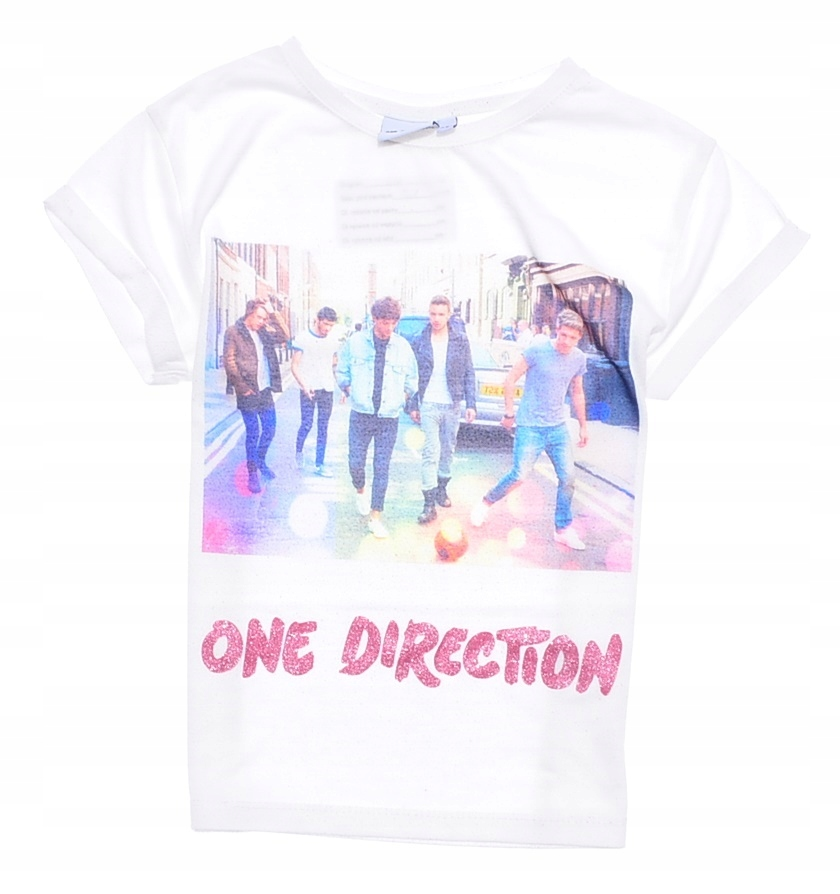 5388-42 ...YD ONE DIRECTION... T-SHIRT BIALY r.122