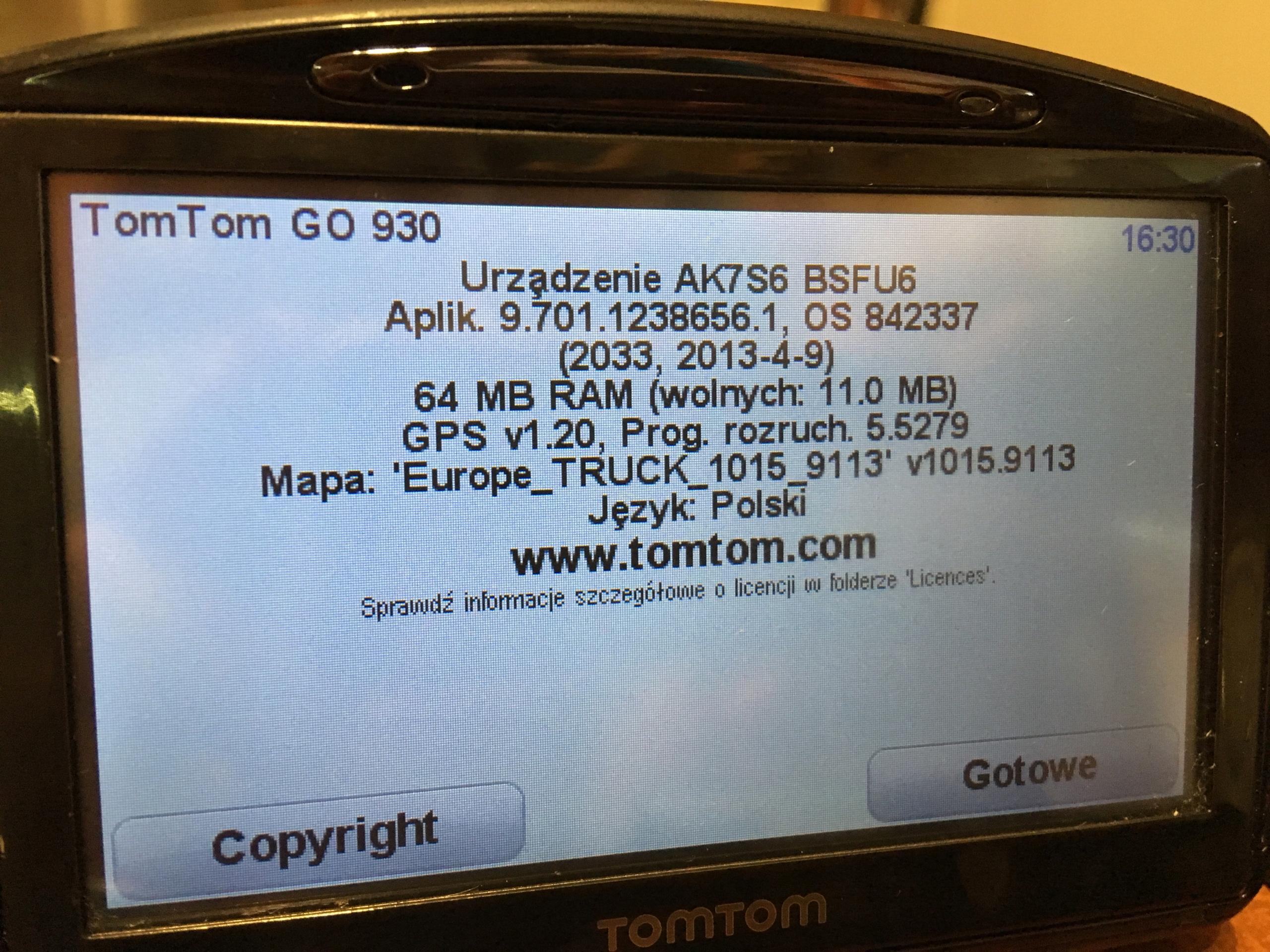 Nawigacja GPS TOMTOM GO930 TRUCK TMC - 7878141674