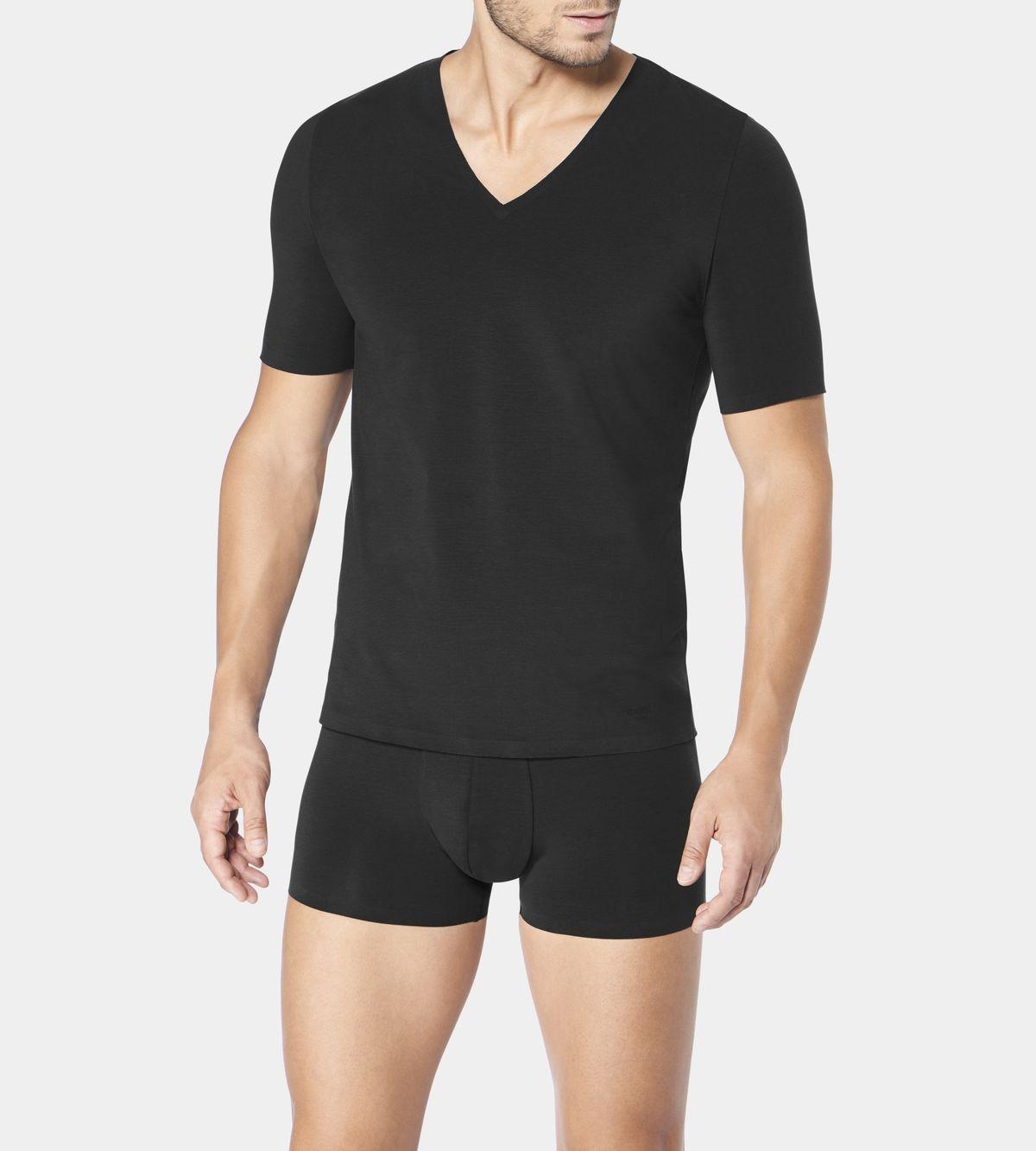 Koszulka Sloggi Men Zero Feel V-neck czarny 7/XL