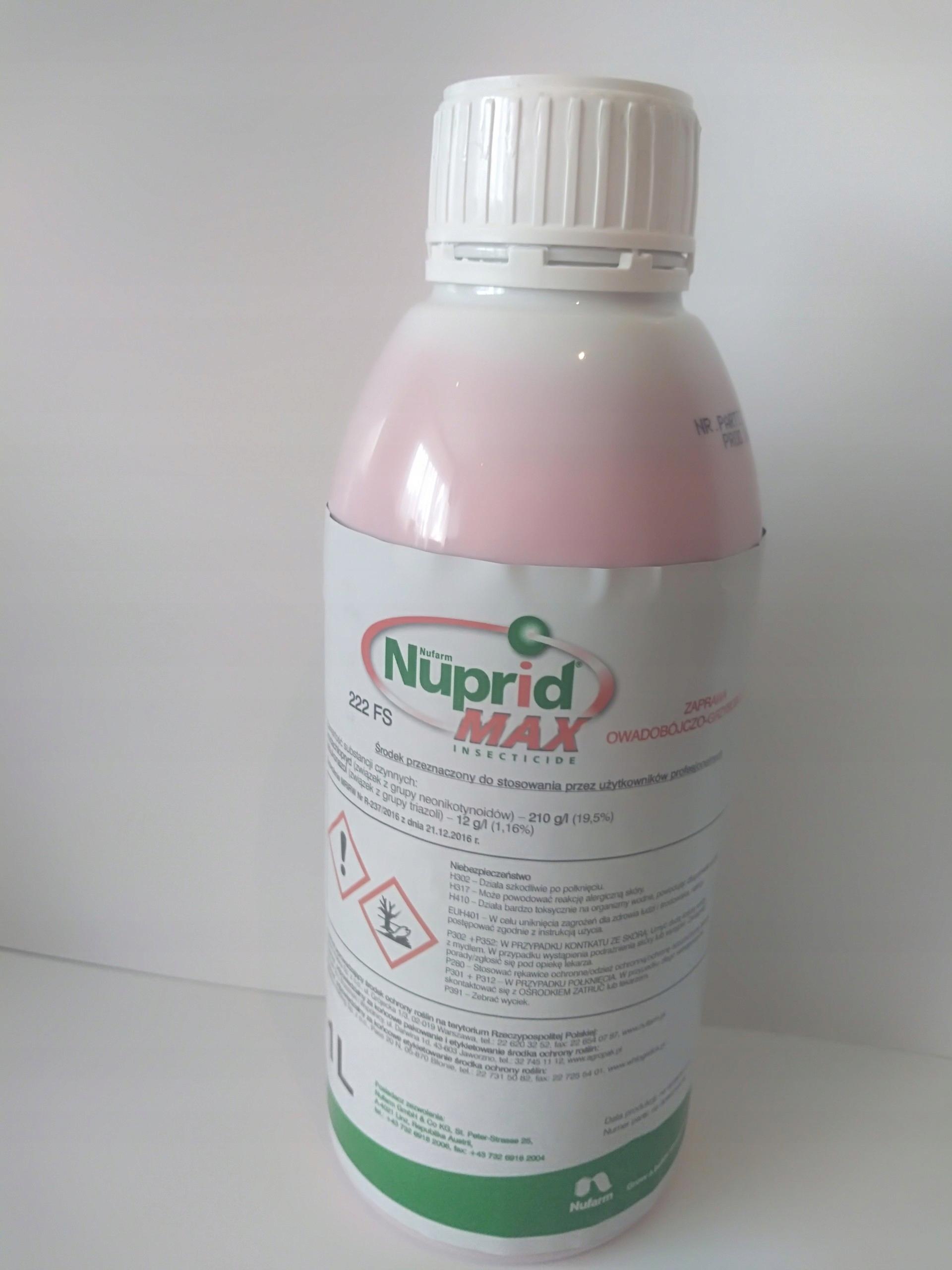 Fantastyczny Nuprid MAX 222FS 1l zaprawa do zbóż śnieć zgorzel - 7537250714 QZ34