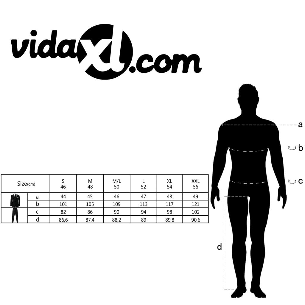 fe282c8a35aef 131118 vidaXL 2-częściowy garnitur biznesowy męski - 7787350473 ...