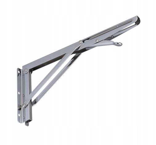 Wspornik półki składany WSA 300 145x300mm Chrom