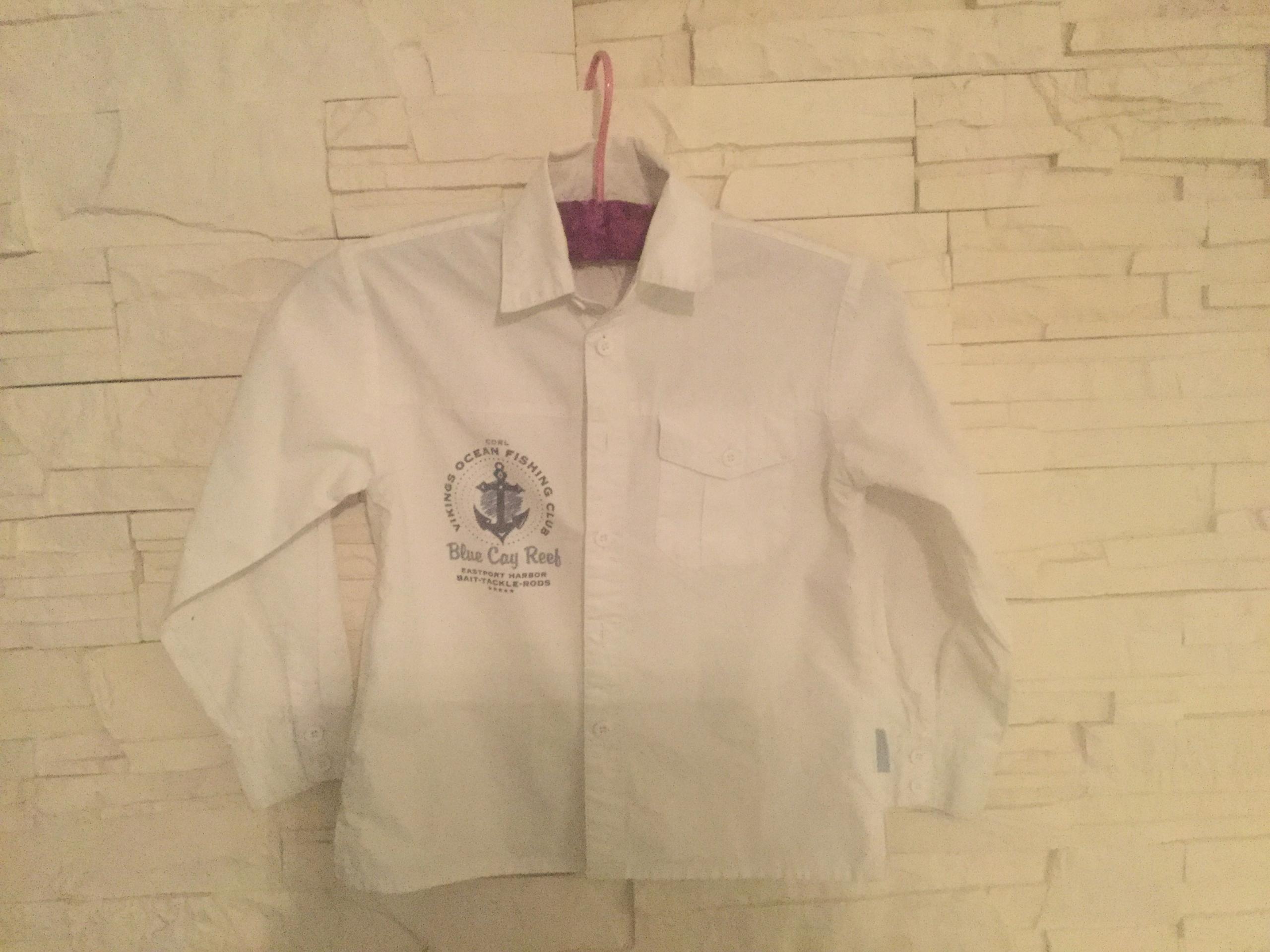 Koszula biała Coccodrillo 116 cm