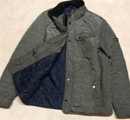 RESERVED pikowana kurtka XL khaki