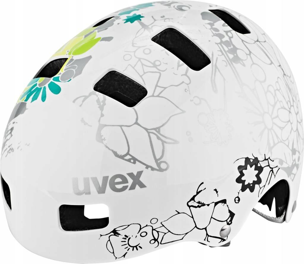 BV1224 UVEX Kid 3 Kask biały w kwiaty 55-58cm