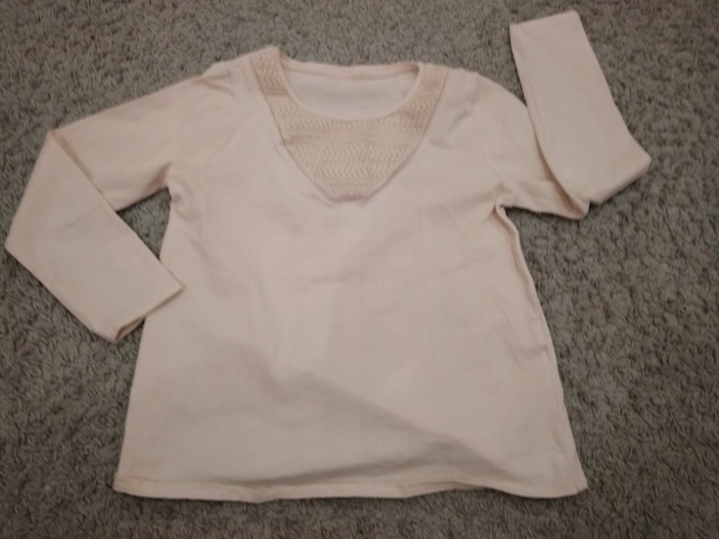 Zara - bluzka koszulka łososiowa r. 122 NOWA