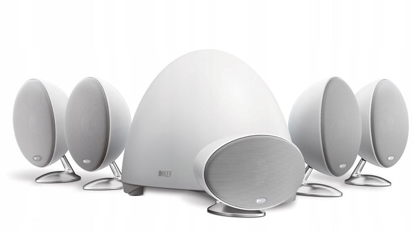 KEF E305 kino domowe białe 5.1