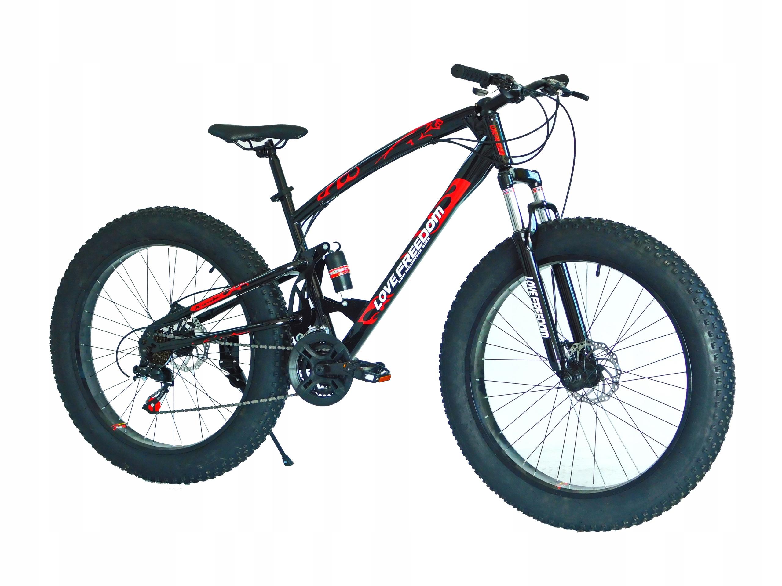Rower Fat Bike Cavaier FULL Czarno-czerwony