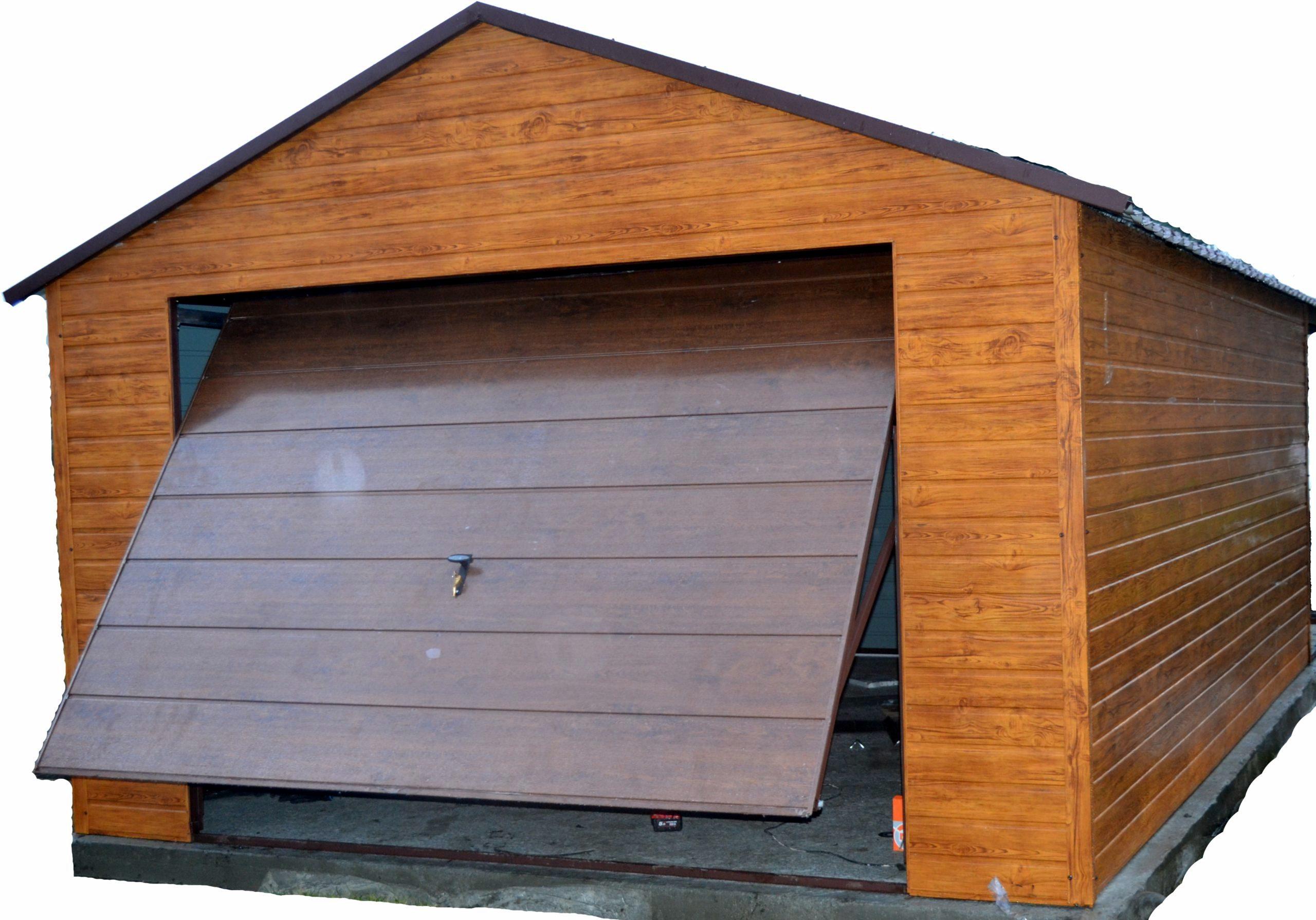 Garaż Blaszany Drewnopodobny Garaże Blaszane 7247282394