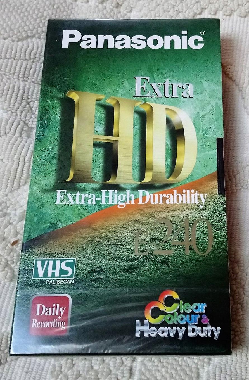 Kaseta VHS Panasonic Extra HD 240 min NOWA