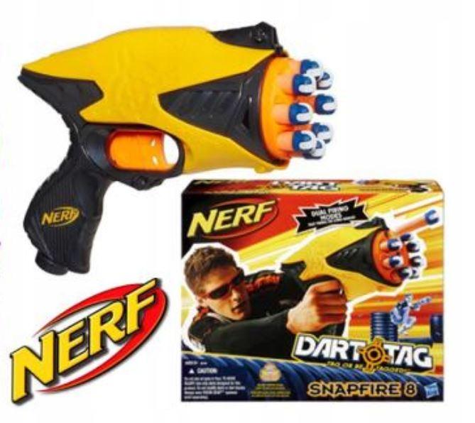 HASBRO PISTOLET NERF SNAPFIRE 8 DART TAG 38126 !!!