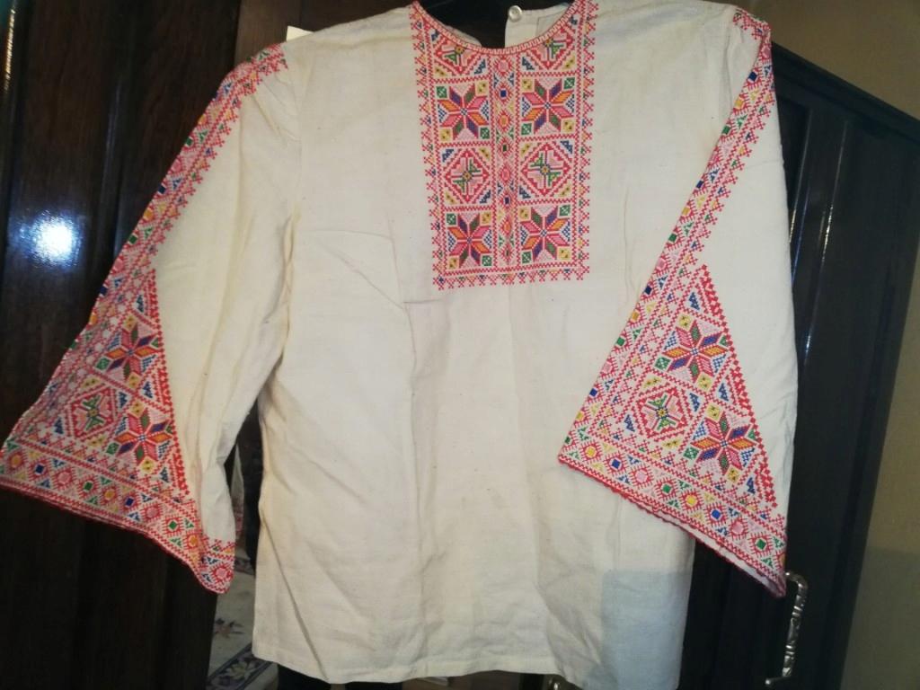 koszula męska ludowa -Ukraina -z haftem krzyżykowy