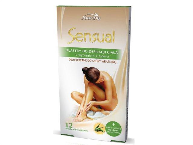 JOANNA Sensual Plastry do depilacji ciała ALOES !!