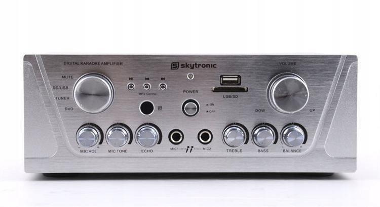 OUTLET Wzmacniacz 2x 50W Karaoke MP3 USB/SD FM