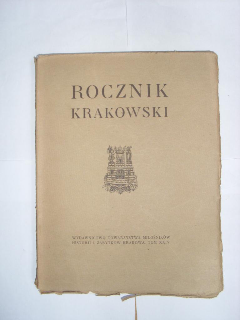 ROCZNIK KRAKOWSKI XXIV 1933 Kalwaria Zebrzydowska