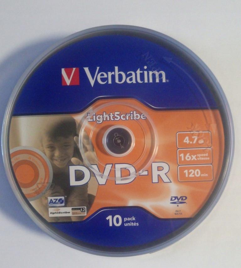 5x płyta DVD-R Verbatim LightScribe 4,7GB cake