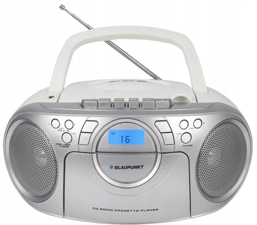 Przenośny radioodtwarzacz BB16WH FM/PLL/kaseta/CD