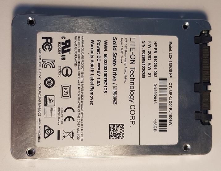 LITEON SSD LCH-128V2S 128GB SSD SATA 2,5