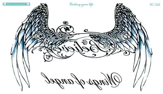 Tatuaz Wodny Zmywalny Skrzydła Anioła 7142582471