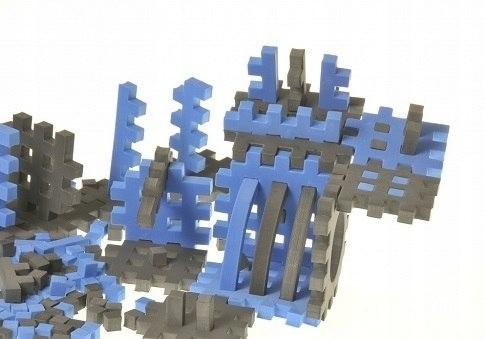 PIANKOWE PUZZLE SENSORYCZNE 230EL. blue-graphite p