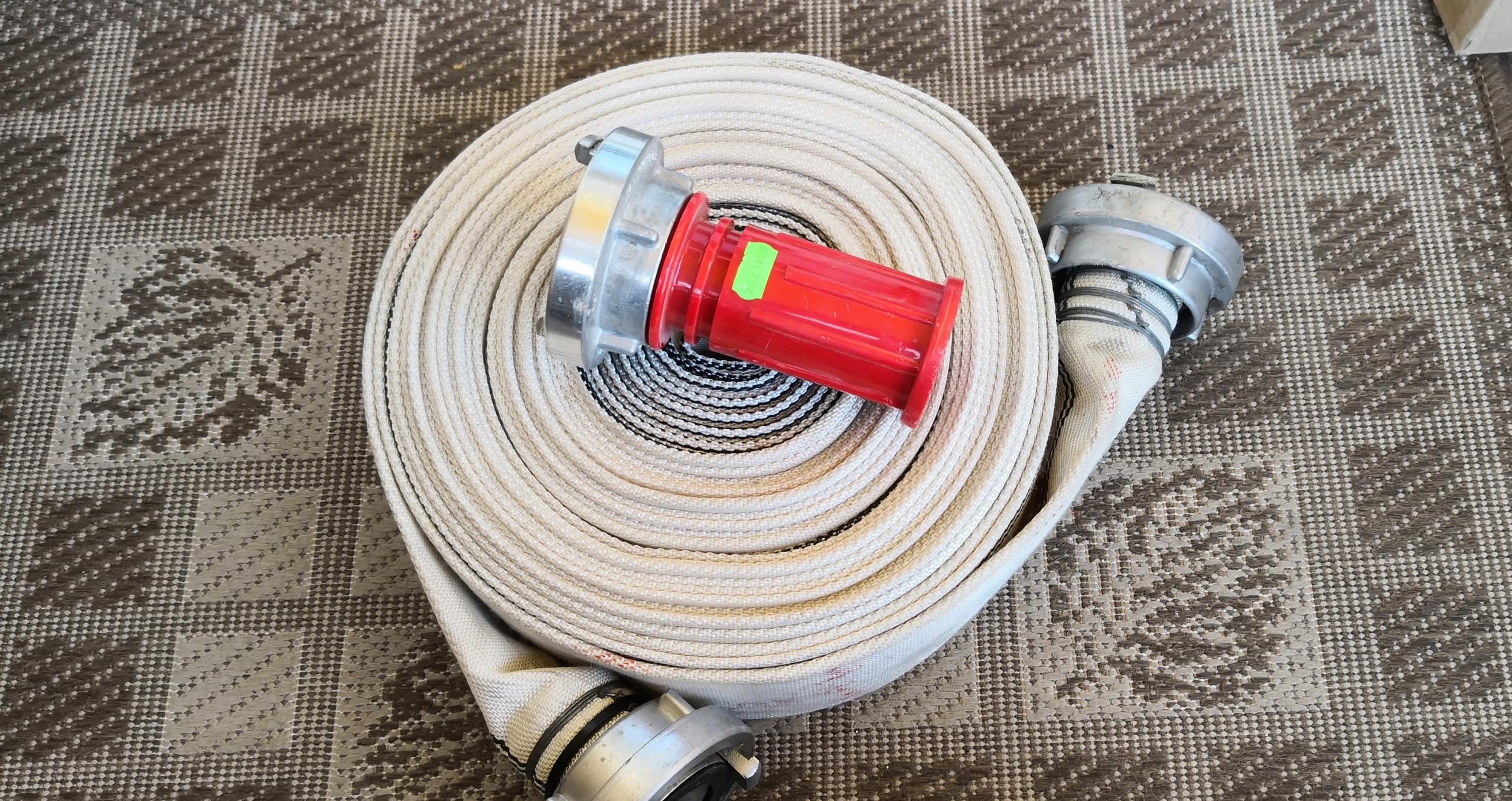 wąż strażacki z prądownicą 1,5 cala
