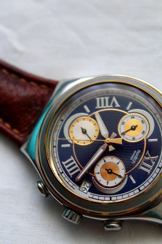 SWATCH unisex damski męski piękny zegarek IRONY