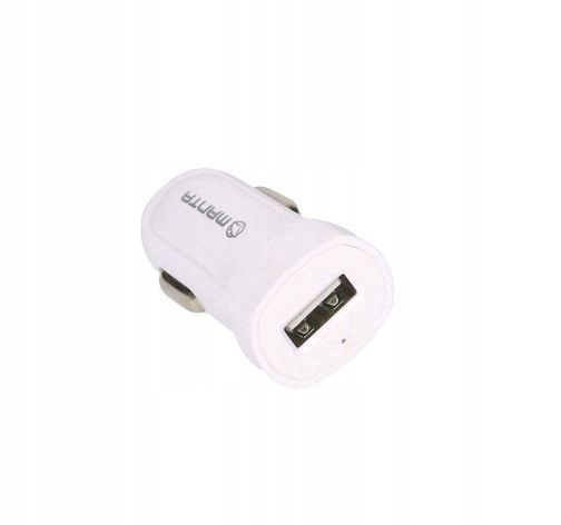 Ładowarka samochodowa USC9001 USB biała