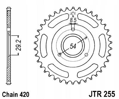 Zębatka tylna JT 35 zębów