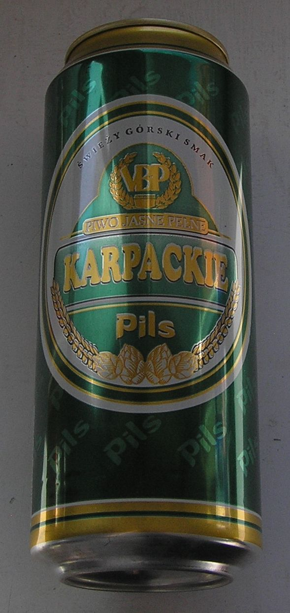PUSZKA PIWO KARPACKIE PILS VAN PUR 2004 2