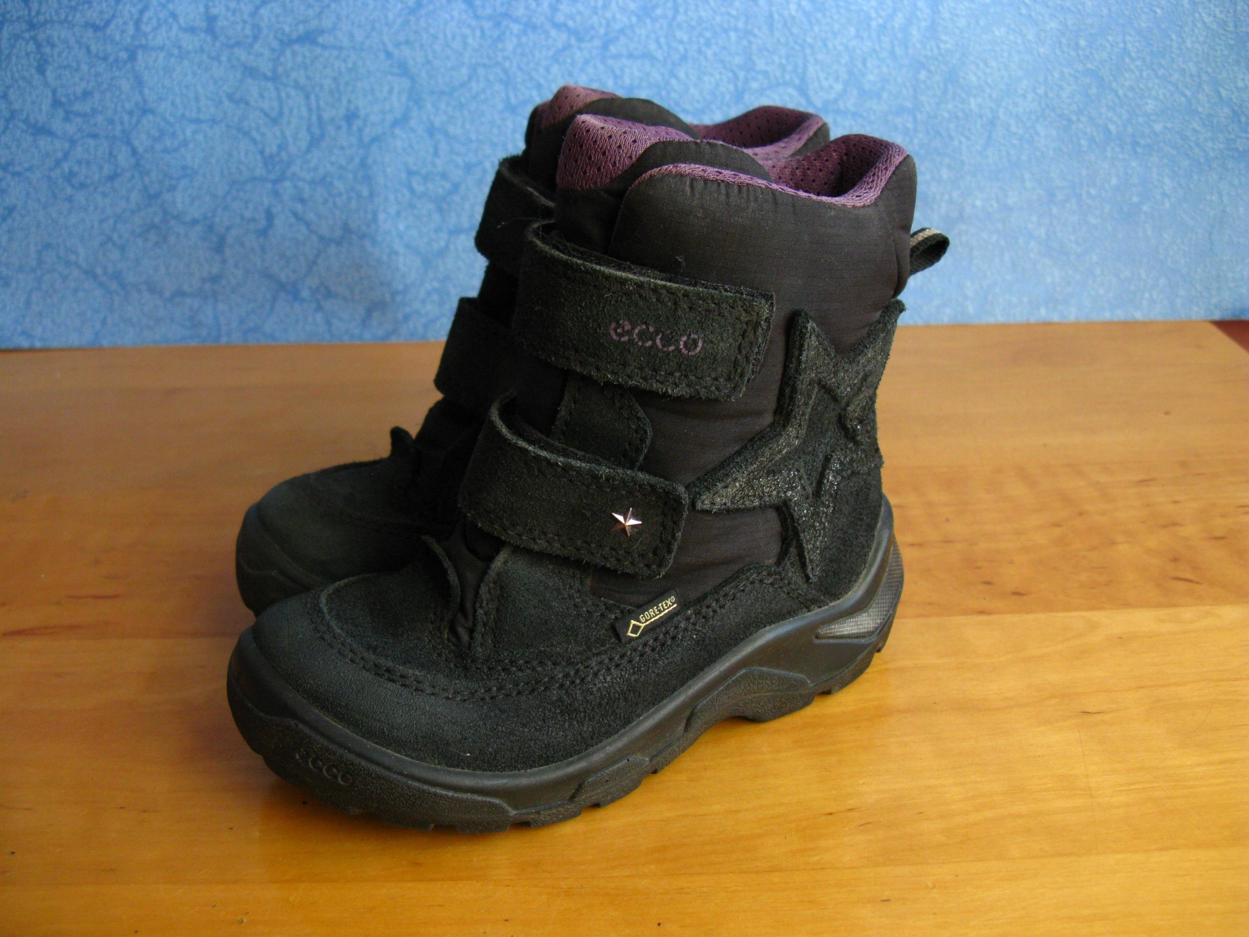 ECCO GORE TEX buty zimowe dzieci kids STAN BDB BCM Zdjęcie