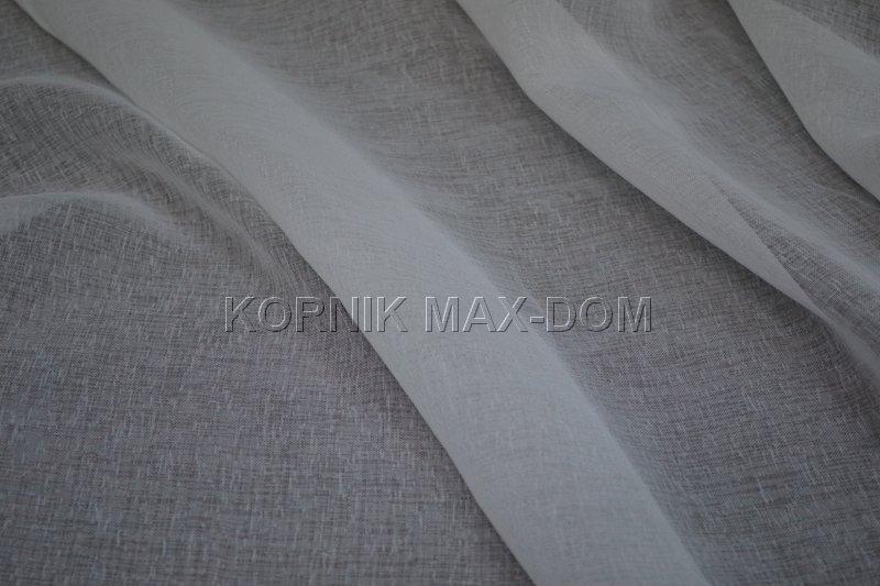 Batyst Matowy Firana Materiał Natura Biel Krem 290
