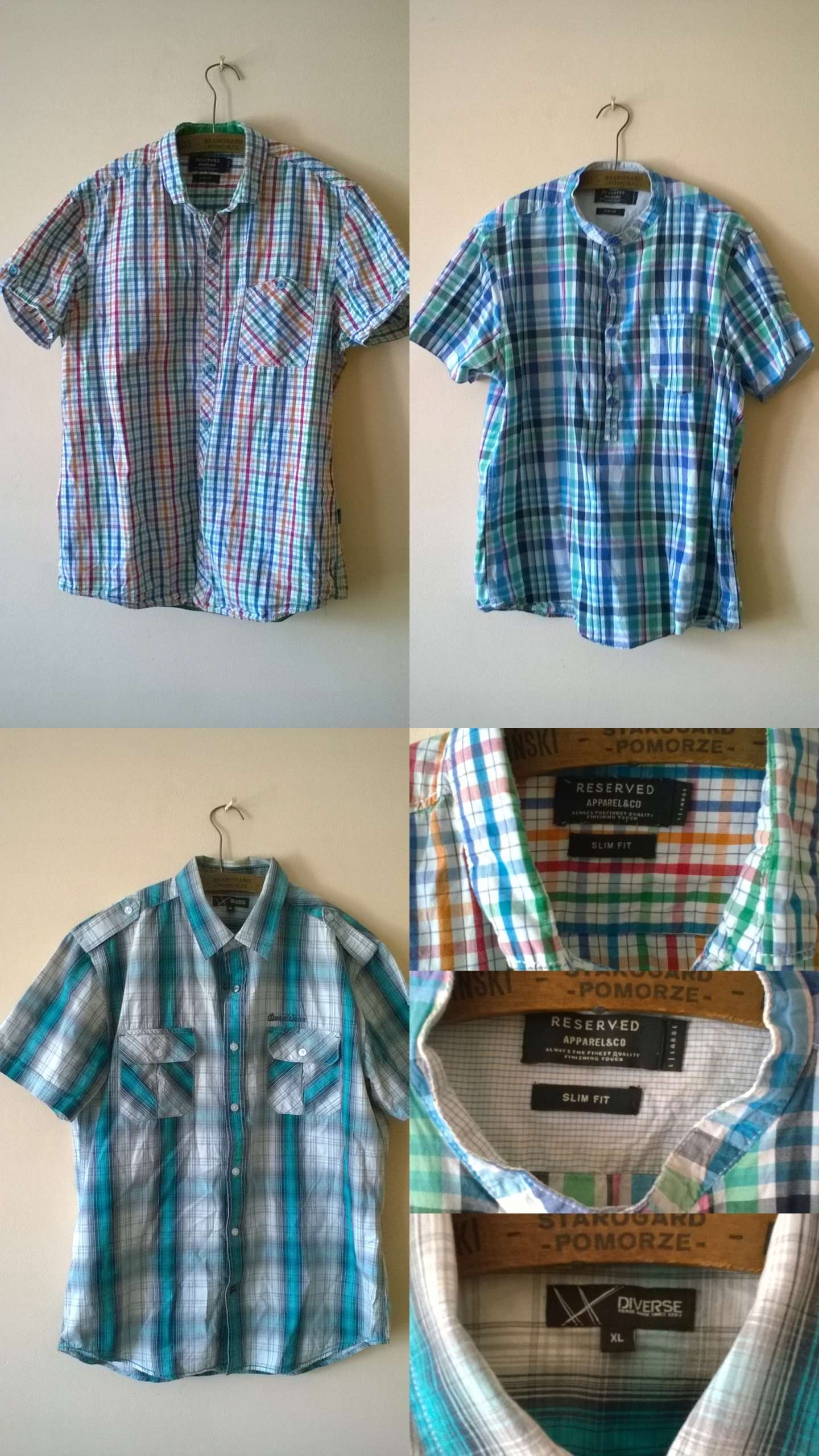 Paka koszul : RESERVED , DIVERSE // 178 - 180 cm