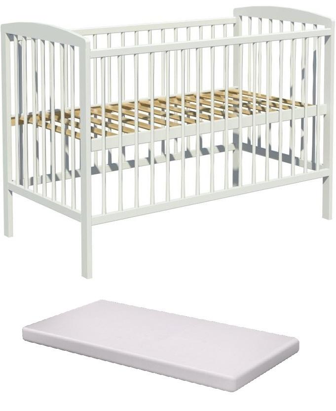 Łóżeczko dziecięce KACPER 120x60cm +materac pianka