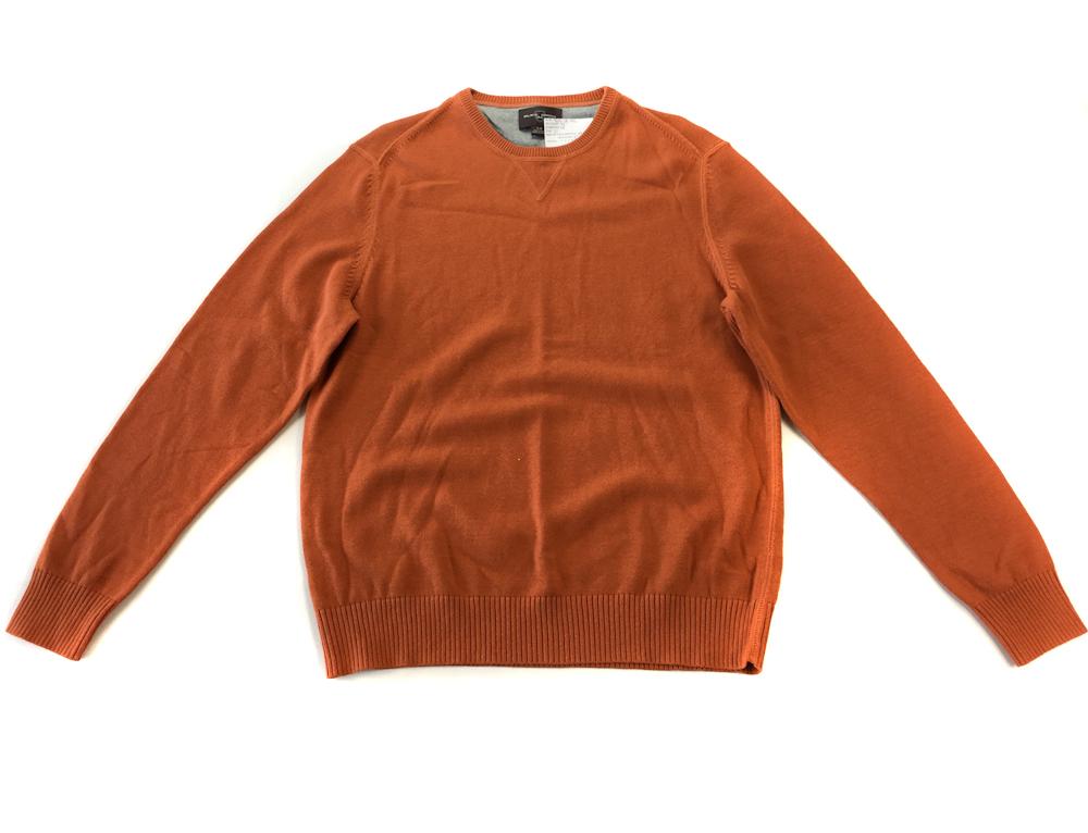 7624 BLACK BROWN POMARAŃCZOWY sweter BAWEŁNA M L