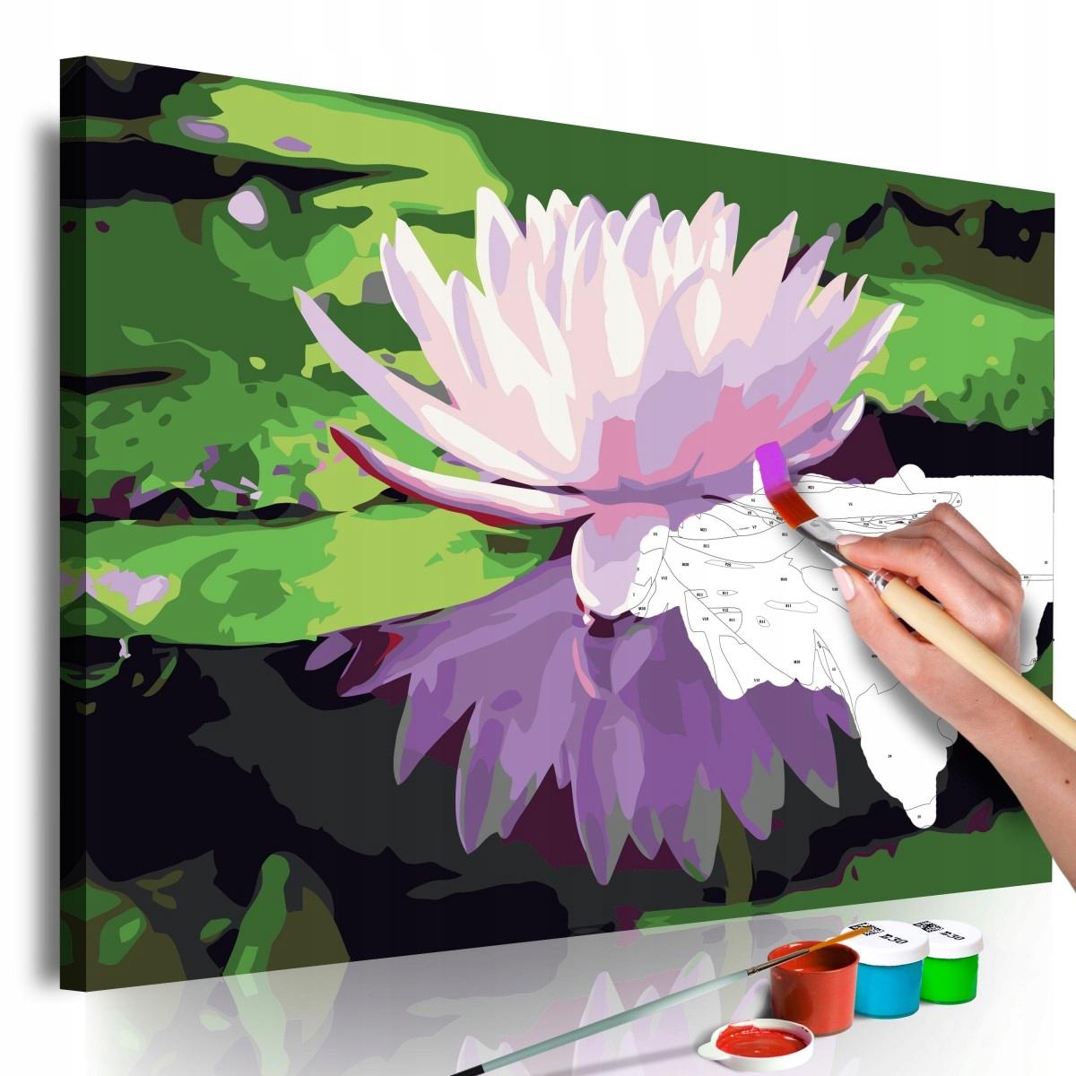 Obraz do samodzielnego malowania - Lilia wodna (Ro