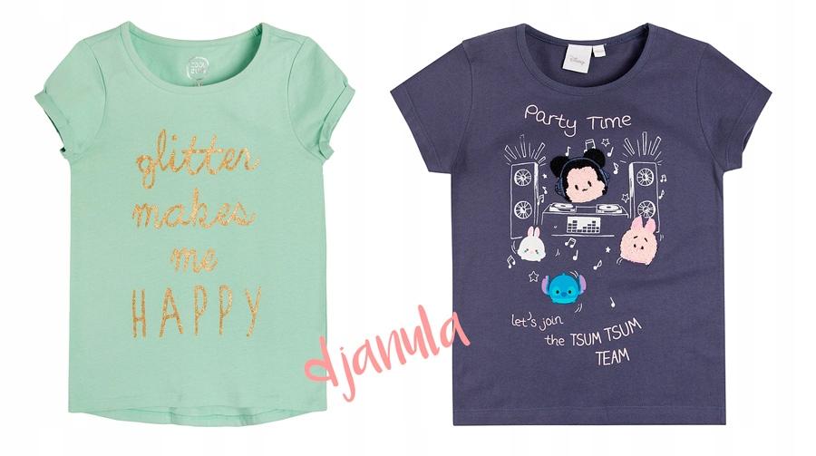 COOL CLUB 2 bluzeczki Tsum Tsum i mięta TANIO