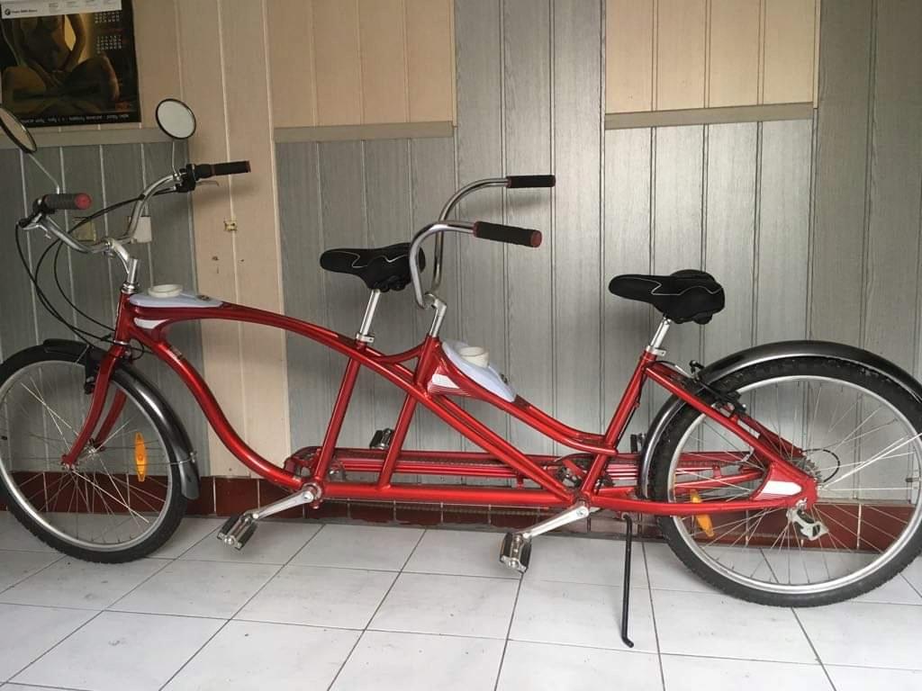 Schwinn_rower miejski tandem czerwony Jak Nowy