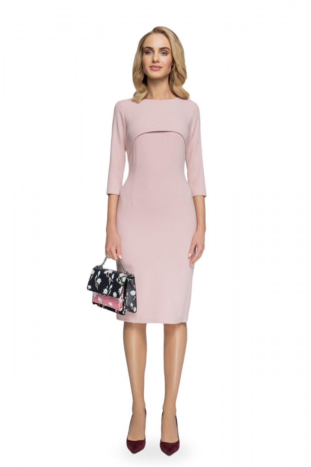 f55d439537389f Sukienka Model S075 Powder Pink - 7213271683 - oficjalne archiwum ...