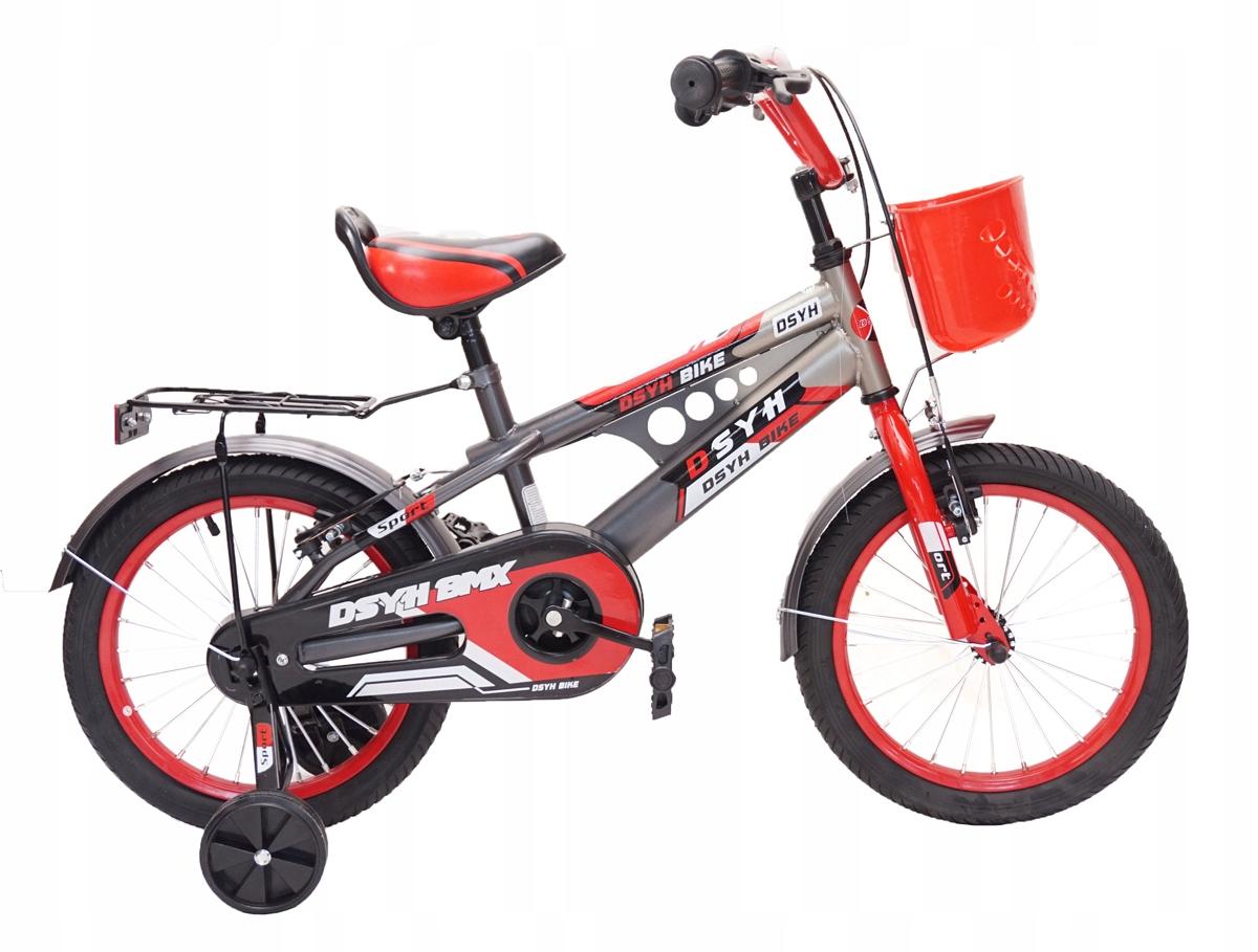 """Rower 16"""" S-BMX SZARO-CZERWONY SPORT CHŁOPIEC"""