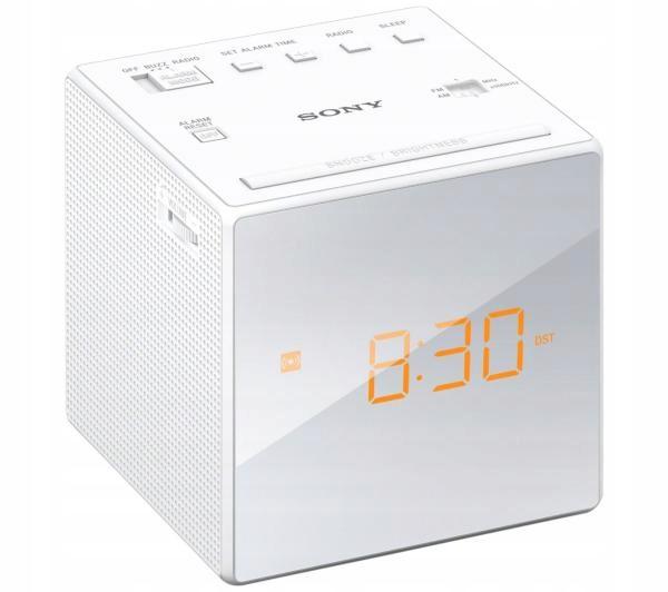 Radiobudzik Sony ICF-C1 AM FM UKF MONO LED Biały