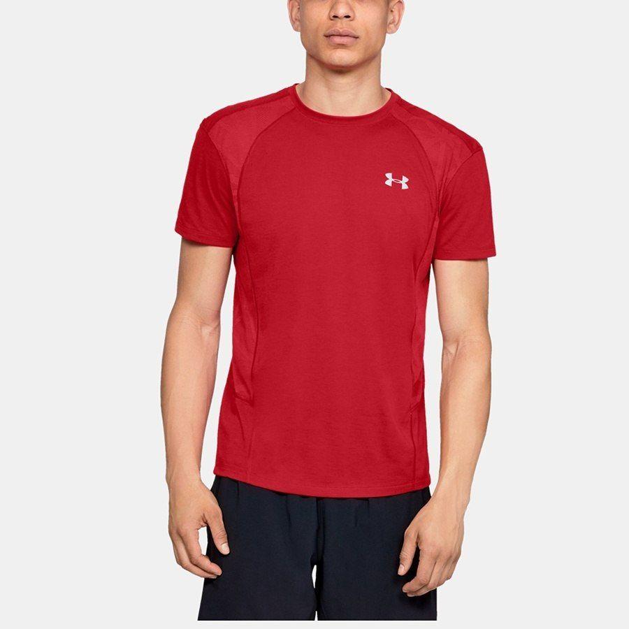 Koszulka Męska do biegania UA Swift Tee czerwon L