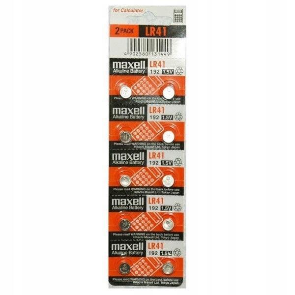 Bateria alkaliczna, LR41, AG3, 1.5V, Maxell, blist