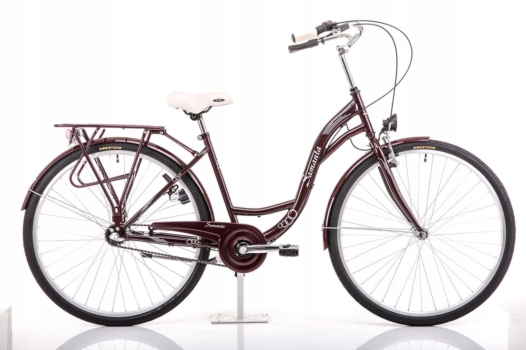 """Rower SAMANTA 28"""" czerwony 18"""""""
