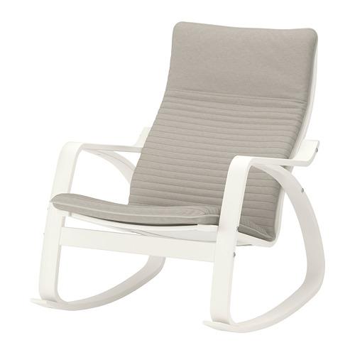 Ikea Fotel Bujany Poang Białyknisa Jasnobeżowy 7313874897