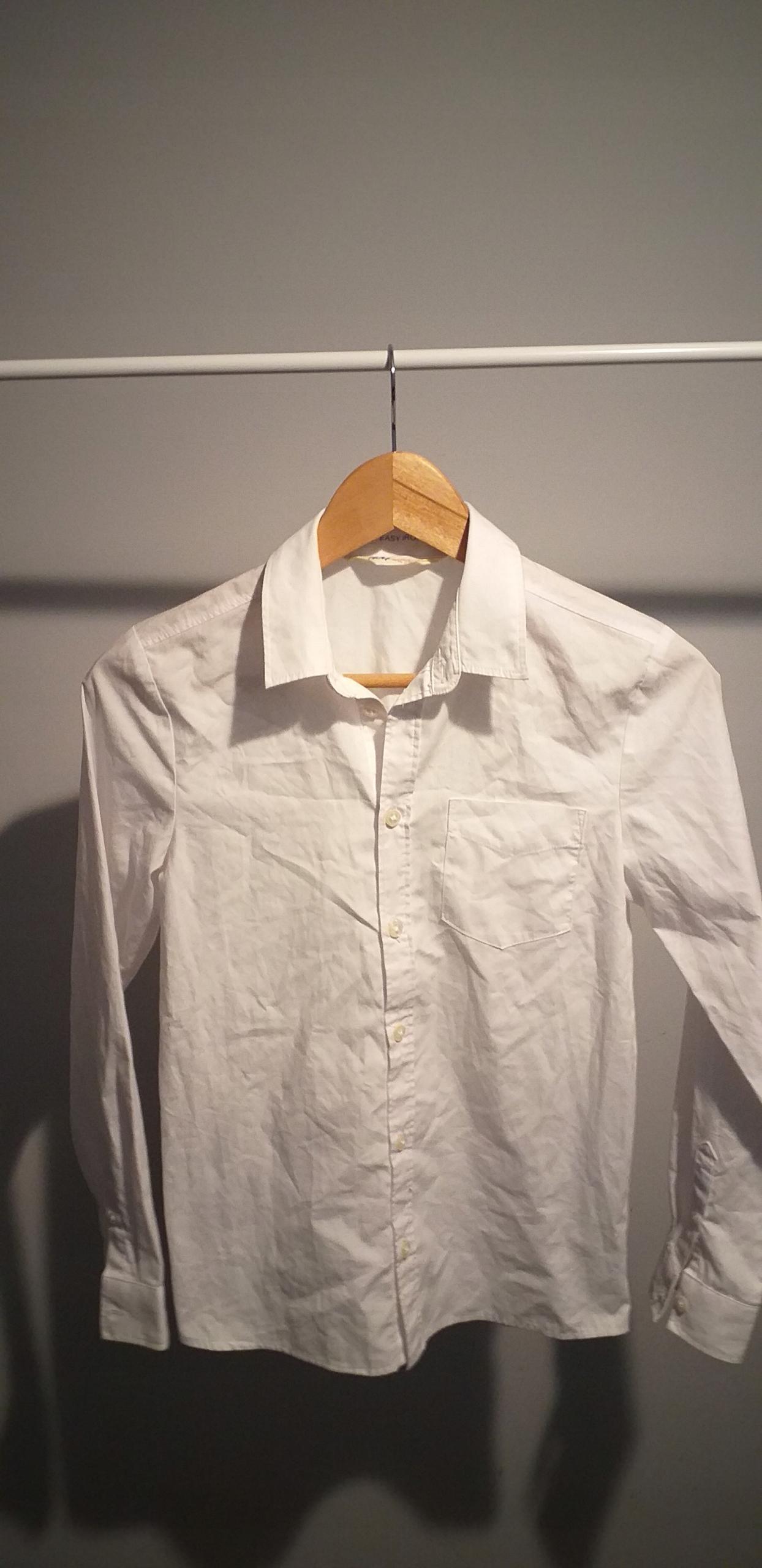 Koszula biała rozm 152 11-12 lat H&M długi ręk