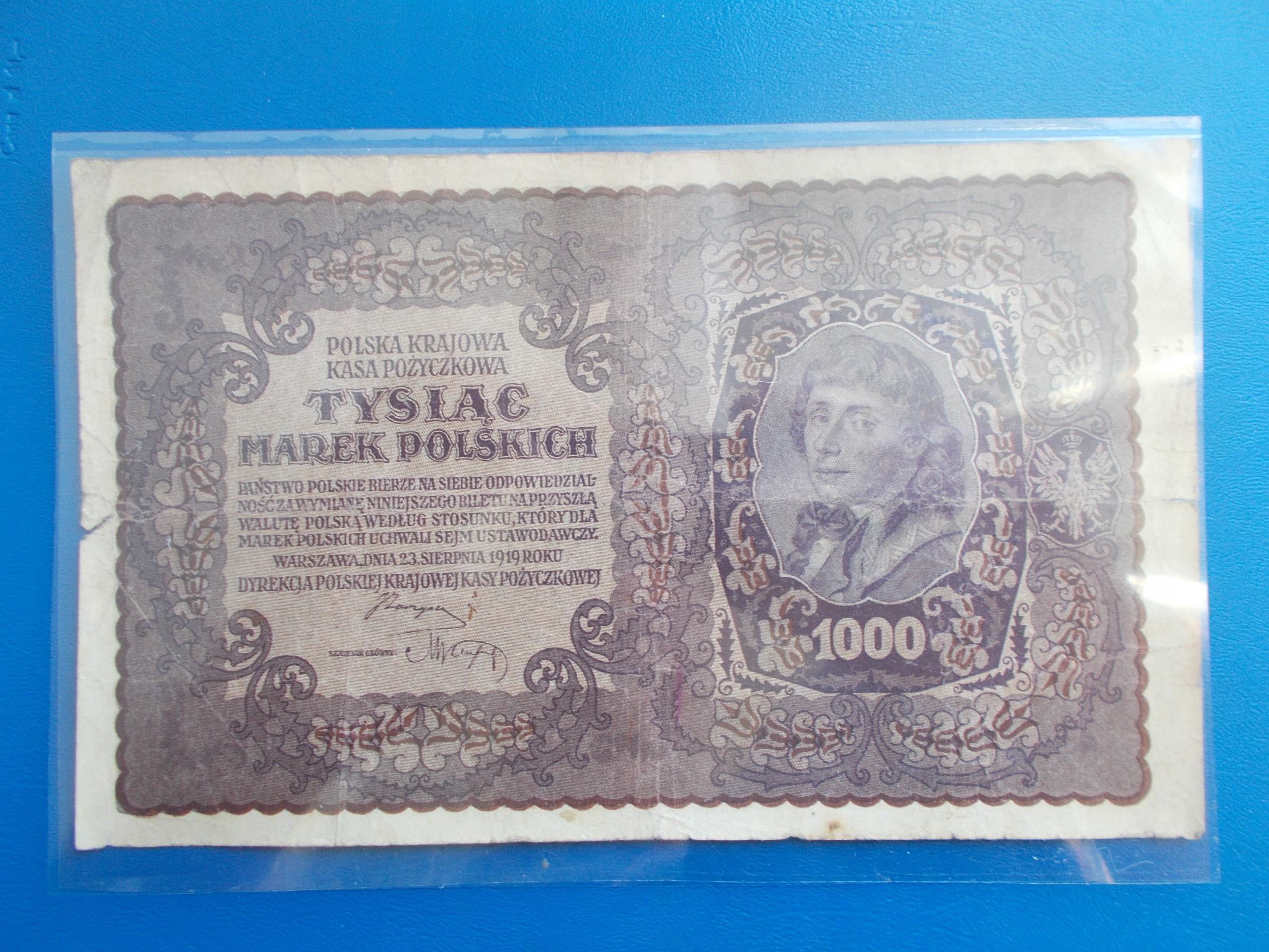 1 000 MAREK POLSKICH-1919-II Serja U-rzadki