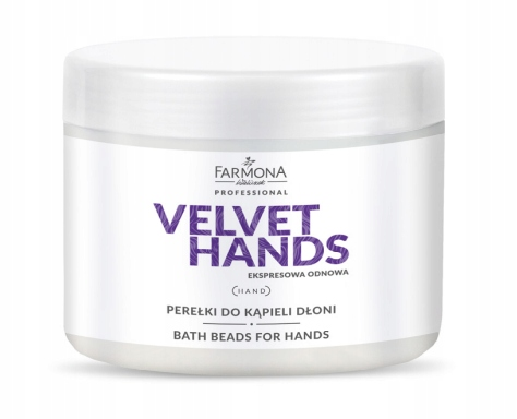 Farmona VELVET HANDS perełki do kąpieli dłoni