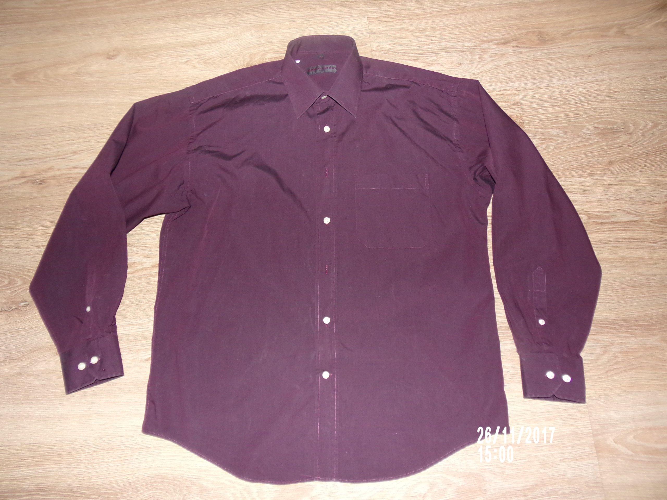 Fioletowa koszula Pierre Cardin 41 kołn. 42cm